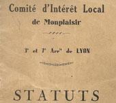 CIL Monplaisir - les statuts originaux du CIL en 1931 (3ème et 7ème arrondissement)