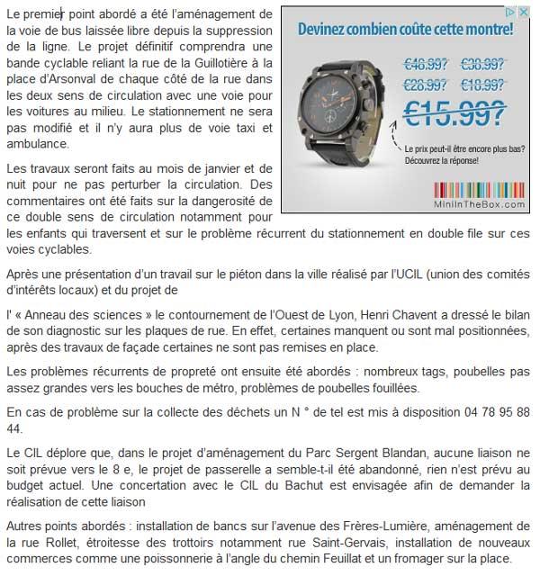 Presse - Le Progres Bilan 2012 du CIL Monplaisir